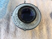 Goerz Artar 16 1/2  F9.5 lens COATED in Ilex #4 Excellent Condition