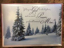 """Christmas 16 Cards & Envelopes  Box Cards 5"""" X 7"""" New"""