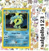 Pokémon Gyarados WOTC 1999 English Vintage Base Set Holo Rare Card 6/102