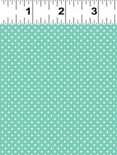 BRO.THER SIS.TER Aqua Dot Quilt Fabric by 1/2 Yard 2141-34 Clothworks