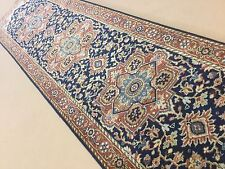 "2'.7"" X 9'.8"" Navy Blue Rust Serapi Persian Oriental Rug Runner Hand Knotted"