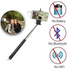 Monópode Selfie Foto Stick Telescópica remoto con cable de teléfono móvil Cámara Titular