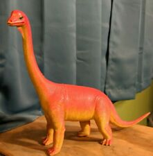 Brachiosaurus Dinosaur Figure Toy Red yellow Vintage 1986 Dor mei