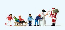 PREISER Exklusivserie 1:87/H0 Figuren, Weihnachtsmann, Kinder, Schneemann #10626