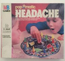 Headache Pop-O-Matic Game- 1986 Milton Bradley - 100 % Complete