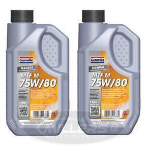 2 X Granville Manual Transmission Gear Box Oil Lubricant Fluid MTF M 75W/80 1L