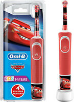 Oral-B Kids Electric Toothbrush Disney Cars Rechargeable Oral Care + 4 Stickers