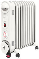 Prem-I-Air 2.5 kW 11 Fin Oil Filled Radiator Heater + 24 Hour Timer & Thermostat