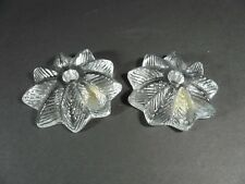 2 Viking Glass Small Candle Holders Vintage