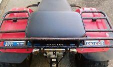 "16"" X 12"" BLACK REAR RACK SEAT PAD HONDA POLARIS KAWASAKI SUZUKI ARCTIC CAT ATV"