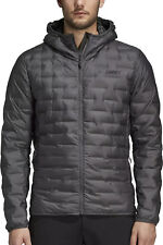 adidas Terrex Light Mens Down Jacket Grey Lightweight Wind and Water Repellent