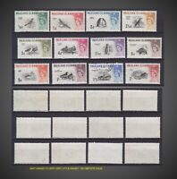 1960 FALKLAND ISLAND BIRDS SHORT ISSUE MINT H TO VERY LITTLE H USED SCT.128-139