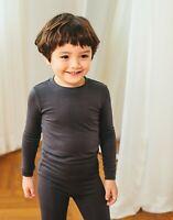 "Vaenait Baby Toddler Kids Clothes Long  Pajama Set ""Modal Chacoal"" 18M-12Y"