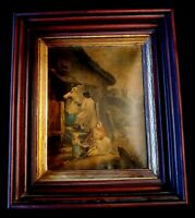"""The Dram Travelle"" GEORGE MORLAND Framed MEZZOTIN ENGRAVING Print B. Duterrau"