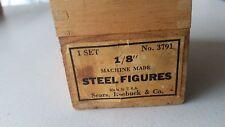 """Vintage Sears, Roebuck & Co. 1/8"""" Steel Figures Model #3791"""