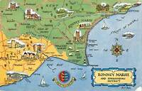 uk9795 romney marsh and surrounding district uk map carte geographique