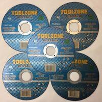"5 X Metal Cutting/Slitting Disc Ultra Thin 115mm (4-1/2"") X 1mm fast stainless"