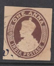 India 1Anna George V Postal Stationary Cut Out VGC