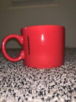 "2017 Starbucks Coffee Mug Red Mug 12 Oz Tea Cup 3 1/8""Tall 4""Wide NEW Gold Lette"