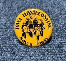 1935 IOWA HAWKEYES HOMECOMING Rare Old Vintage College Football Badge Pin Button