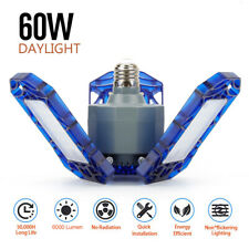 E26 60W Deformable Garage LED Light 6000LM for Workshop Shop Ceiling High Bay US