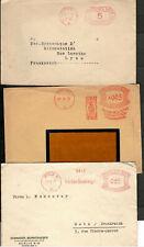 ALLEMAGNE DEUTSCHES REICH 1930/37 3  ENVELOPPES OBL MACHINE POSTWERTZEICHEN