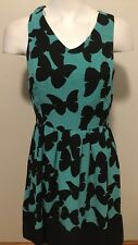 Kensie Aqua Combo Fit And Flare Dress. Nwt Sz Small