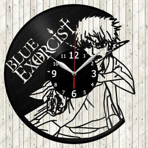Blue Exorcist Vinyl Record Wall Clock Decor Handmade 6107