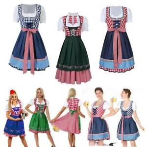 Oktoberfest Women's Ladies German Bavarian Lederhosen Beer Costume Fancy Dress