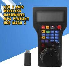 For CNC Milling Machine LCD 4 Axis Wireless Handwheel MPG Pendant USB Mach 3