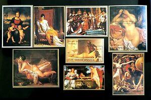 China Stamps Collection(20% off) 世界名画裸体油画纪念张册, 第四组15纪念张. 小型张.