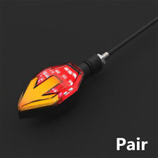Red+Yellow Dual Colors Motorcycle Arrow Turn Signals LED Indicator 10mm Screw
