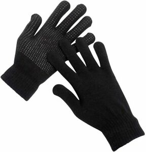 Mens Magic Gloves 1 Pair With Grip Unisex Winter Warm Adult Gloves Thermal