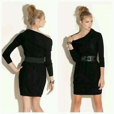♡♡ Guess Black Paula's Cowl Neck Sweater Belted Top Dress ♡♡