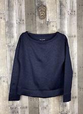 Betsey Johnson Performance Navy Blue Geometric Sweatshirt Size Small