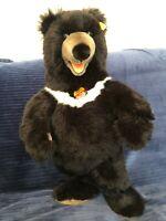 "Steiff Kragenbar Black Bear Standing 20"" #069604"