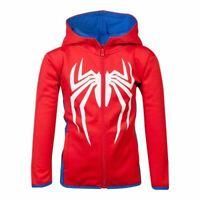 Marvel Comics Spiderman Logo Teq Longue Fermeture Capuche Enfants Mixte 146/152