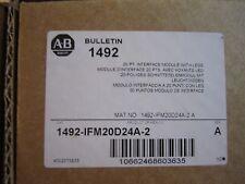 NEW ALLEN-BRADLEY 1492-IFM20D24A-2 20PT INTERFACE MODULE WITH LEDS