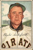 1952 Bowman Pittsburgh Pirates Baseball Card #227 Clyde Sukeforth CO RC - VG