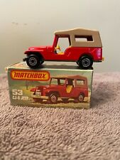 Vintage 1977 Matchbox 1-75 Superfast#53 Cj-6 Jeep made in England by Lesney
