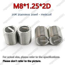 100pcs M8x125x2d Metric Helicoil Screw Thread Wire Inserts 304 Stainless Steel