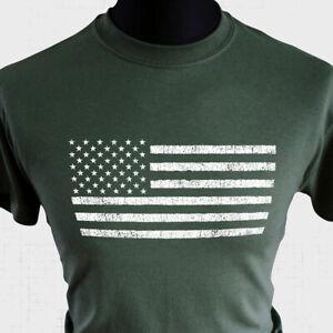 American Flag Retro T Shirt Stars and Stripes USA America States Cool Military G