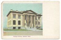 Carnegie Library, Spokane, Washington 1908 TINTED HALTONE by Inland Printing Co
