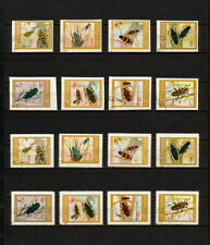 (YYAZ 675) Vietnam 1977 IMPERF + Perf NH Mich 910 -17 Scott 876 -83 Insects