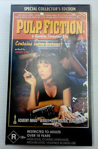 Pulp Fiction Uma Thurman VHS Video Cassette Tape Clear Small Box PAL R18+