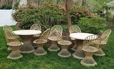New listing Vintage Spun Fiberglass Patio Set Table Chairs Russell Woodard Mcm - Will Ship