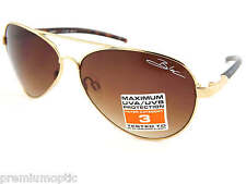 BLOC junior HURRICANE aviator Boys Girls Kids Sunglasses GOLD/ Brown Lens J134