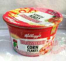 Kellogg Strawberry Flavour Corn Flakes Breakfast Cereal Cup Healthy Delicious