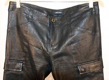 J Brand Black Lambskin Stretch Leather Pants Size Large 12 14 Efurs4less