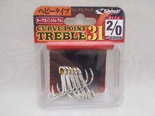 Decoy Curve Point Treble 231CS Jigging Popping Lure Fishing Hooks Size 2/0 5pc